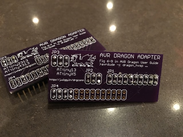OSH Park AVR Dragon boards